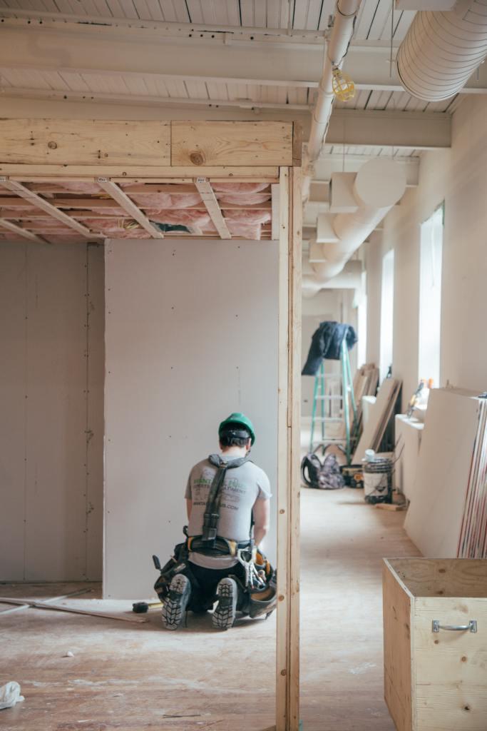 Man doing home renovation